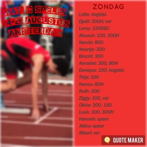 52e Nationale C Spelen Dag 2 - Amsterdam (25-08-2019)